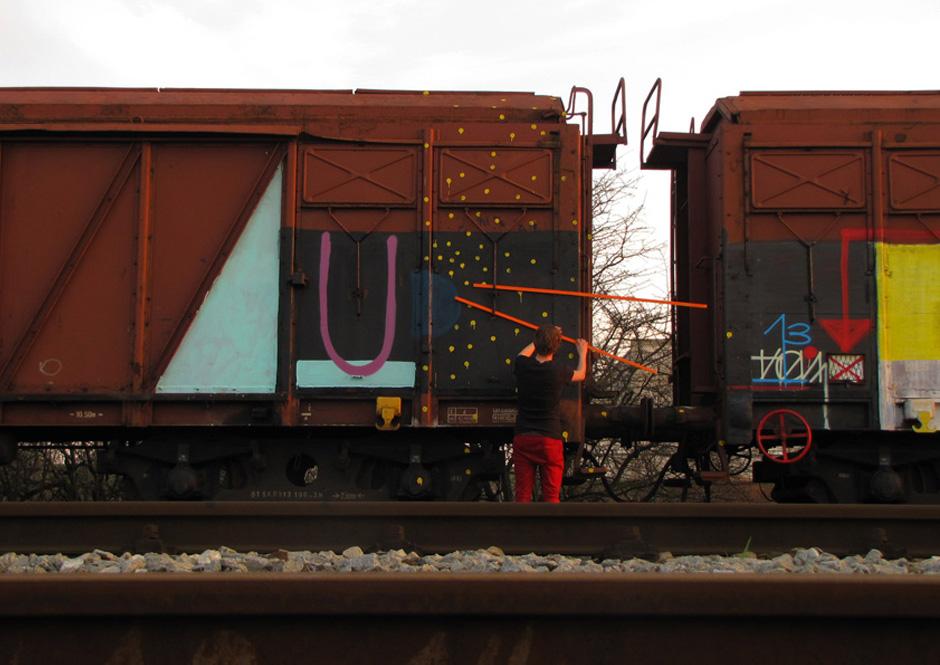 vlak latě